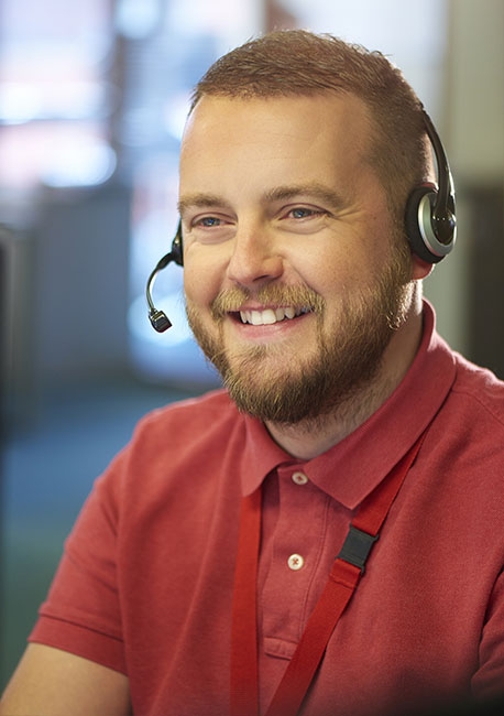 Gold Mountain Communications - Call Center Agent Smiling