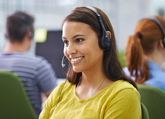 Gold Mountain Communications - Agent on headset